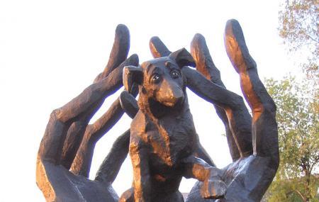 Standbeeld Van De Hond Dzok Image