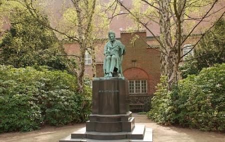Soren Kierkegaard Statue In The Library Garden Image