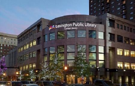Lexington Public Library Ceiling Clock And Foucault Pendulum Image