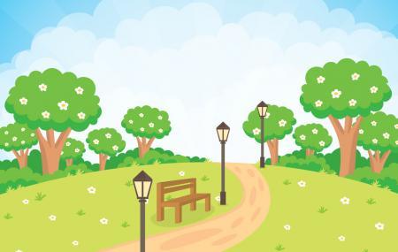 Kartoon Villagge Luna Park Image