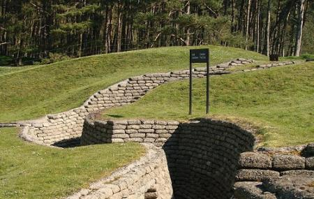 Preserved Ww-i Trenches At Vimy Memorial Park Image
