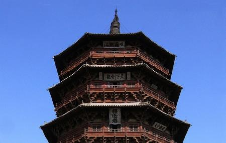 The Sakyamuni Pagoda Of Fogong Temple Image