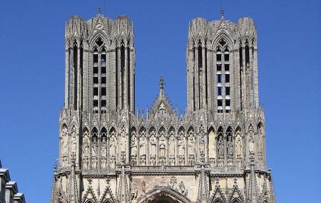 Towers Of Reims Cathedral, Reims-la-brulee