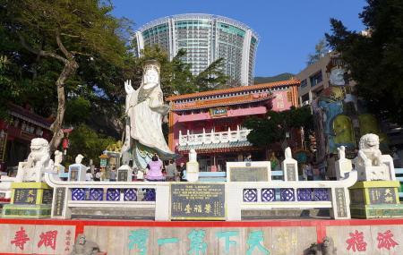 Tin Hau And Kwun Yum Statues Image