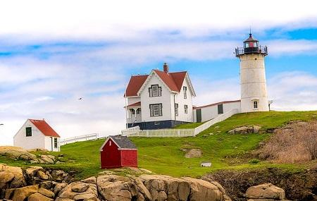Cape Neddick And Quot,nubble And Quot, Lighthouse Image