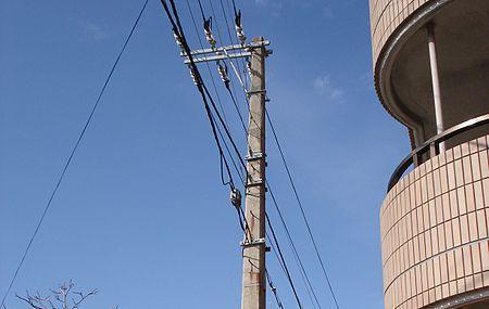 Oldest Concrete Utility Pole In Japan Image