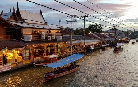 Amphawa Floating Market Image