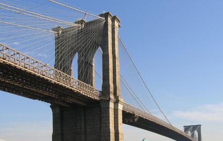 Pedestrian Entrance To Brooklyn Bridge Image