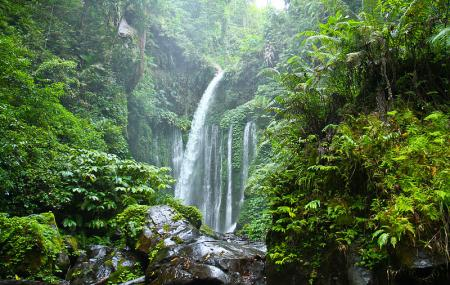 Sendang Gile And Tiu Kelep Waterfall Image