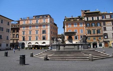 Piazza Di Santa Maria In Trastevere Image