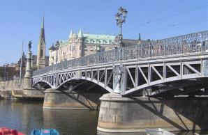 Djurgarden Bridge And Island, Stockholm