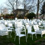 185 Empty White Chairs