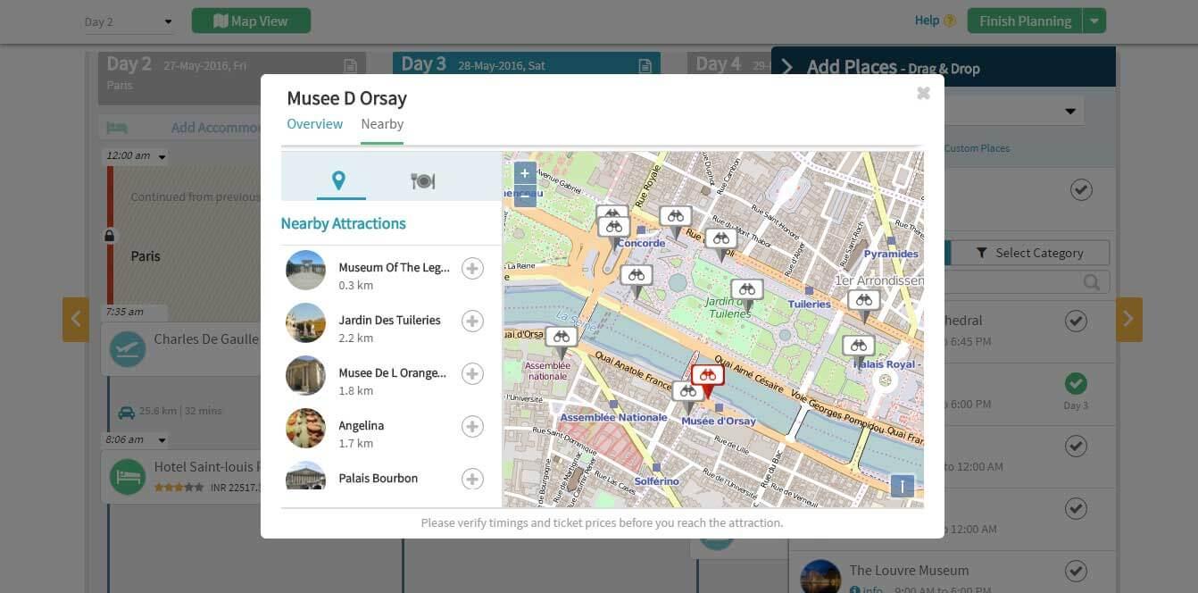 Create a trip itinerary